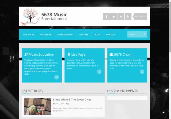5678 Music Entertainment Homepage