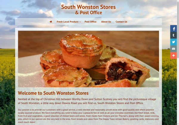 South Wonston Stores & Post Office Homepage
