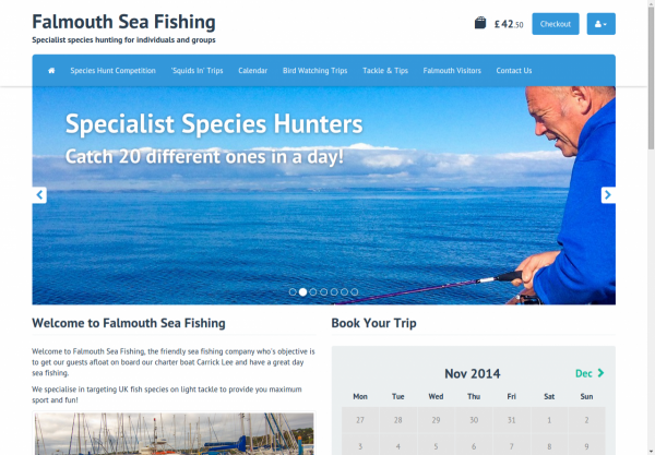 Falmouth Sea Fishing Homepage