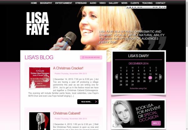 Lisa Faye Homepage