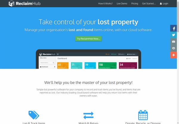 ReclaimHub Homepage